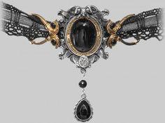 She walks in beauty steampunk lace choker by Alchemy Gothic