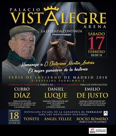 Homenaje a D. Victorino Martín Andrés. Feria de invierno de Vistalegre el 17 de febrero