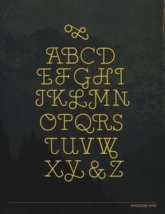Kingdom Type Design by renee granillo, via Behance