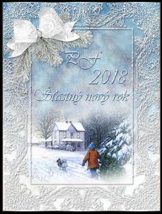 PF 2018 | vánoční blog Christmas Paper, Christmas Time, Paper Frames, Pretty Cards, Blog, Painting, Home Decor, Winter, Cute Cards