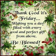 Thank God Its Friday