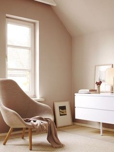 63 Trendy Ideas For White Bedroom Furniture Pink Wall Colors Beige Walls Bedroom, Beige Room, Bedroom Wall Colors, White Bedroom Furniture, Room Colors, Pink And Beige Bedroom, Ikea Bedroom, Murs Beiges, New Room