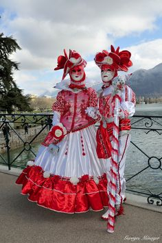 Sensational red and white costumes at Carnaval vénitien Annecy 2015 | Flickr - Photo Sharing!