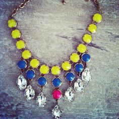 Neon Statement Necklace by LindsayRaeDesigns on Etsy,