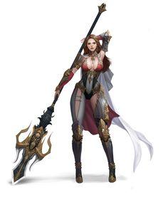Warrior by jiyun lim. Fantasy Female Warrior, Female Armor, Female Knight, Fantasy Armor, Fantasy Women, Fantasy Girl, Anime Warrior Girl, Woman Warrior, Fantasy Character Design