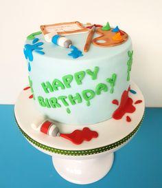 Maler/ Künstler Torte Cake