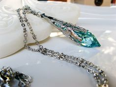 New Swarovski Ocean Blue/Green AB Finish by HisJewelsCreations, $37.50