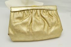 Vintage MM Morris Moskowitz Gold Clutch Unique Gift for Her Great for Special Occasion Vintage Clutch, Vintage Purses, Simplicity Sewing Patterns, Vintage Sewing Patterns, Gold Clutch, Unique Gifts For Her, Shades Of Gold, Evening Outfits, Birthday Gifts For Women