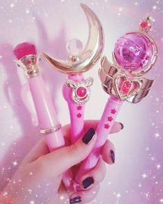 Magical girl #sailormoon #sailormooncollection #sailormoonwand #prettyguardiansailormoon #moonstick #crescentmoon #cutiemoonrod #lunapen #disguisepen #mahoshojo #magicalgirl #magical #pink #pinky #girly #girl #wand #cute #kawaii #gashapon #moon #rod #girlthing #anime #manga by elyserei