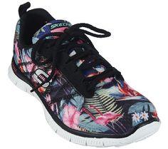 375342900c27 Skechers Printed Mesh Sneakers w  Memory Foam - Floral Boom