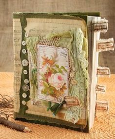 Creating a Mélange Journal Tutorial - This project comes from the book Layered, Tattered & Stitched by Ruth Rae.