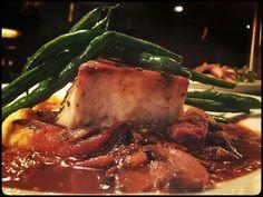 Scottish #Salmon, topped with hoisin, soy, honey mango glaze ...