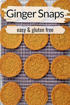 Looking for a gluten free cookie recipe to add to your Christmas cookie platter? Try these gluten free ginger snap cookies. These ginger snaps have crispy edges, soft and chewy middles, and best of all they're gluten free. They're the perfect addition to your holiday cookie exchange.