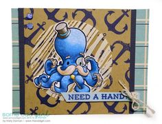 In the Navy with Paper Issues - The Odd Girl  Clear Stamp is Mr. Octopus from @someoddgirl