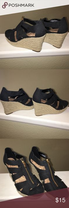 Wedges never worn! Target black wedges-  never worn, great condition ! Shoes Wedges