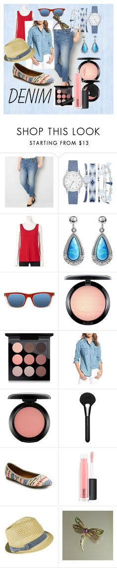 """Denim Comfort"" by vickiitz ❤ liked on Polyvore featuring Avenue, A.X.N.Y., Croft & Barrow, Journee Collection, SocialEyes, MAC Cosmetics, cupcakes and cashmere and Mossimo Supply Co."