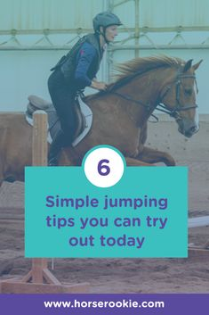 Learning how to jump a horse for the first time? Want to work your way up the levels? Our rookie-approved tips can help!   #equestrian #horsetips #horsehacks #horsejumping #horsejumpingtips #jumpingforbeginners