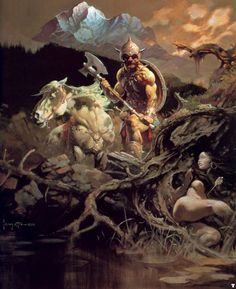 Frank Frazetta- If only I could paint like him!