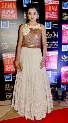 Trisha Krishnan at #SIIMA2015. #Tollywood #Kollywood #Fashion #Style #Beauty #Hot