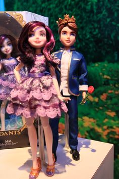Disney Descendants Mal & Prince Ben Dolls 2-Pack by Hasbro, 2015 - Mal is the daughter of Maleficent and Ben is the son of Belle and The Beast, which would make him the brother of Rosabella Beauty of Ever After High. Ben closely resembles Dexter Charming of Ever After High, as they both wear royal blue jackets.