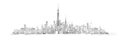 New York Skyline Giclee Print by Avery Tillmon - at AllPosters.com.au