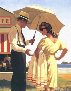 Vettriano HE PAINTS HIS PEOPLE IN SUCH BEAUTIFUL CLOTHES. LOVE THE V BACK