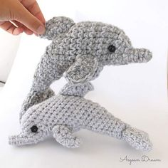 Ege the Dolphin - bottlenoes dolphin amigurumi crochet pattern by Aegean Drawn - free with code through 6/13/16