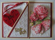 Valentinstag - 3 D Grußkarte Valentinstag - ein Designerstück von Tinas-Hobbywerkstatt bei DaWanda
