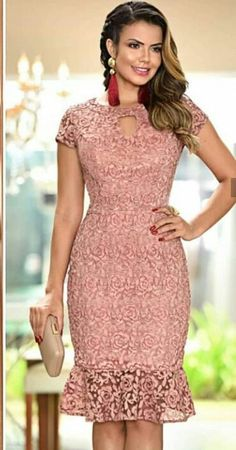 Lace Top Dress, Lace Dress Styles, African Lace Dresses, Latest African Fashion Dresses, Lace Dress With Sleeves, African Dresses For Women, Women's Fashion Dresses, Dress Outfits, Short Bridesmaid Dresses