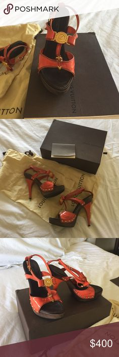 Authentic LV High Heels Excellent condition and beautiful shoes with original box and bags. Louis Vuitton Shoes Heels