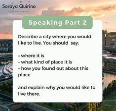 City places to live Explain Why, Found Out, Esl, Conversation, Activities, Sayings, Live, Places, Lyrics