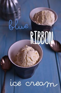 Blue Ribbon Ice Cream/Not Quite Nigella  http://www.notquitenigella.com/2013/03/16/home-made-no-churn-blue-ribbon-vanilla-ice-cream/  This link it for the Vanilla extract recipe that she swears makes it taste like blue ribbon:  http://www.notquitenigella.com/2011/08/24/made-from-scratch-vanilla-extract/