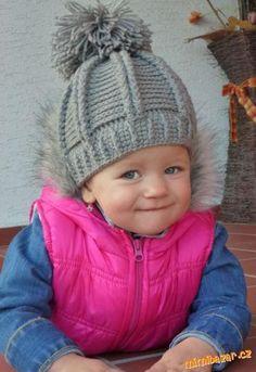 KULÍŠEK TEPLÝ ZIMNÍ ČI PODZIMEK NÁVOD NA BAMBULKU VLOŽEN ZVLÁŠŤ Crochet Kids Hats, Crochet Cap, Knitted Hats, Cute Hats, Hobbies And Crafts, Little Princess, Headbands, Winter Hats, Embroidery