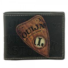 halloween spirit board Womens Wallet bifold Leather Ouija board game wallet