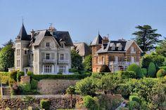Houses near the beach, Dinard, France