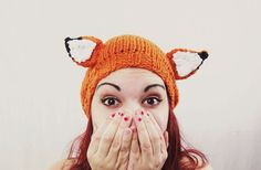 Fantastic Fox Hat by awberry on Etsy - adorable...