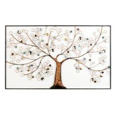$90 over bed? Framed Metallic Tree Metal Plaque | Kirklands