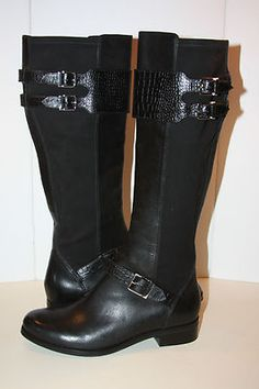 Womens Size Cole Hann Tenley Black Boots   eBay  love these boots, wish I had an extra $100 to buy them. All my boots are too big because they all had to fit my fat calves that I no longer have.