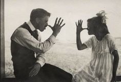 Father and daughter. Late 1910s.