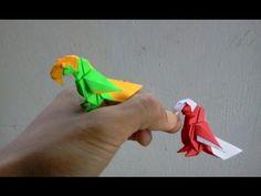 How to make Origami Bird parrot (barth dunkan) origami tutorial, origami bird instructions Origami Bird Easy, Origami Parrot, Instruções Origami, Origami Ball, Origami Fish, How To Make Origami, Paper Crafts Origami, Origami Birds, Simple Origami