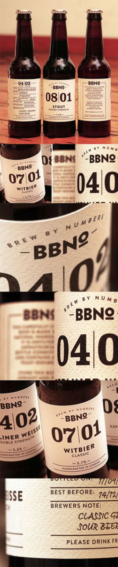 Label / beer / Brew by Numbers via The Dieline PD
