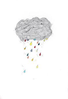 "1000drawings: ""cloudbust by bent folk """