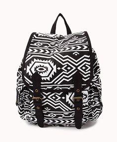Traveler Tribal Pattern Backpack | FOREVER 21 - 1031557717
