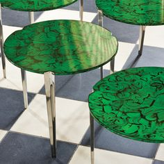 Faux Malachite Cloverleaf table
