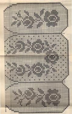 Rose Flower Filet Crochet Apron Pattern, Mail Order 312