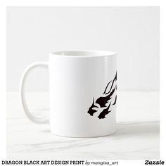 DRAGON BLACK ART DESIGN PRINT