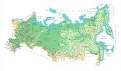 World Map Russia