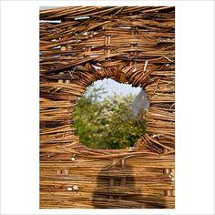 willow fence gap by elke borkowski Willow Fence, Plant Pictures, Oak Tree, Dream Garden, Fences, Arches, Garden Plants, Gates, Garden Sculpture