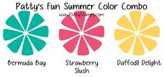 happy summer color combo for card making