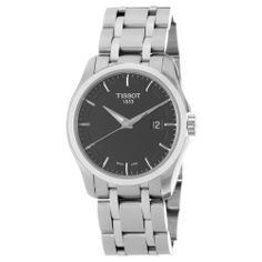 Tissot Men's T0354101105100 Couturier Black Dial Stainless Steel Watch Tissot. $280.25. Water-resistant to 100 m (330 feet). Quartz movement. Black dial. Stainless steel case. Stainless steel bracelet. Save 34%!